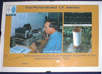 A Peter Bobek award